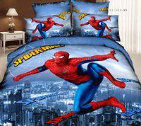 100% Cotton 3D Oil Painting  Home Home Textiles 100% Cotton Luxury Queen Size 3d bed set bedding set bedclothes Spider-Man printed duvet cover bedspread