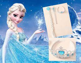Wholesale Snow adventure Frozen elsa Queen Hair accessories PCSCrown PCSWig Magic wand drop shipping hot sale HZ