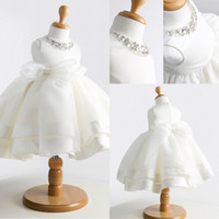 party tent - 2014 New Children s Dresses Bridal Pettiskirt Crystal Flower Baby Girls Dresses White with Show Tent Princess Bridal Party Gowns Ball Gown