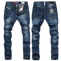 branded jeans - Brand Jeans Men New Arrivals Ultra thin Big Size Spring Summer Cotton Long Denim Casual Slim Male Trousers Jeans