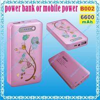 Wholesale 2pcs B002 mAH V A V A output power bank or mobile power for tablet pc mp3 mp4 cell phone speaker onda v818 v973 ainol