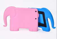 Protective Shell/Skin baby dust - EVA Foam Children Kids Shockproof Protection Protective Case Cover Cute Elephants for iPad Air Baby Stand Holder