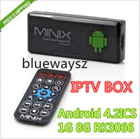 Dual Core Included 1080P (Full-HD) hot IPTV SET TOP BOX !MINIX NEO G4 Dual Core remote control Android TV Box Mini PC R3066 1GB DDR3+8GB 4.2ICS Bluetooth 1080P HDMI IPTV 50P