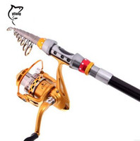 Medium Heavy 8-8.9 Feet Carbon High Quality Hot Sale Telescopic Fishing Rod 2.7m +4000 Gold Sea Rock Fishing Reel Set Outdoor Fishing Tackle Tools