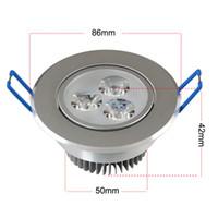 Wholesale W w LED ceiling down light Aluminum material110v v v v led downlights cold warm white High Quality