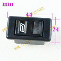 Wholesale car accessories electric window lifter switch doors and windows single pins switch button for Vw santana