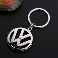 Wholesale Volkswagen Car Accessories VW D Car Logo Silvery Metal Keyring keychain keyfob for cars with gift fashion jewelry