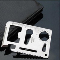 Wholesale hot selling in Multi Tools Credit Card Emergency Survival Pocket Knife Tool Camping Tool