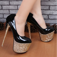 Wholesale fashion women s red bottom ultra high heels cm platform bride white wedding shoes black women pumps