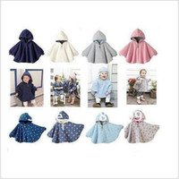 Poncho Unisex Spring / Autumn Free Shipping Combi Baby Coats Girl's Smocks Ourerwear Fleece cloak Jumpers mantle Children's Poncho 1pcs lot Cape [CG11005*1]