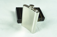 Wholesale 6ounce stainless steel hip flask alcohol flask pocket flask wine flask liquor flask DHL Fedex UPS