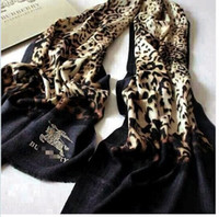 Wholesale The new Autumn winter classic leopard embroidery printing carriage quality cashmere scarf