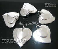 Wholesale Fashion jewerly silver double heart pendants fit necklace bracelet brand new