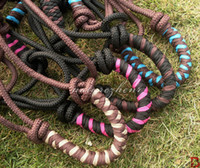 Wholesale NSZ2 Cowboy Harness Rope Knot Halters Soft Rope protect Horse Bridle Reins Horsemanship tack