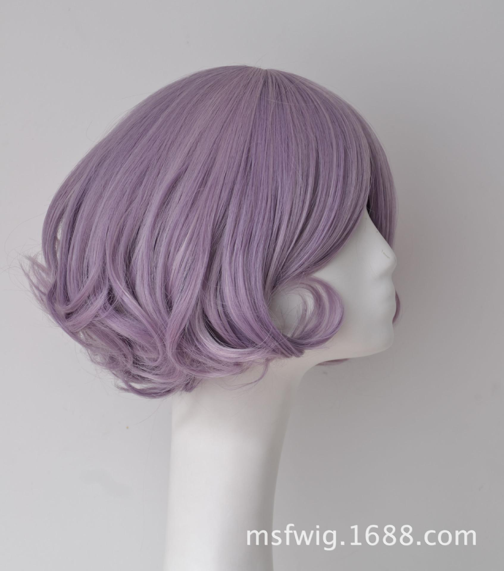 Yiwu Factory Direct Pear Head Taro Color Curls Fashion