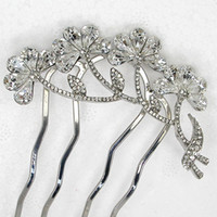 Wholesale High Quality Clear Crystal Pyriform Rhinestone hair Comb Bride Bridesmaid Wedding party prom Hair Comb Fashion Hair Accessories jewelry L337
