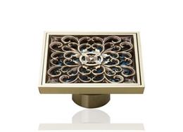 Wholesale e pak L5400 Antique Brass Rose Golden Bathroom Floor Drain Faucet Accessory Floor Drain