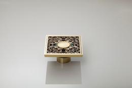 E_park 100m Anticuario Brass Europea Cuadrado Cuarto de Arte Tallado Kithen Cuarto de Baño Drains Ducha Drainer