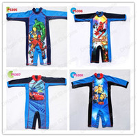 Boy One-piece 2T-3T Children's swimsuit baby Swimwear Swim trunks Boys Siamese sunscreen clothing Rash Guard ,Spider-Man, Cars, Despicable Me kids King Surfer