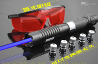 Cheap Blue laser pointer 20000mw with ,charger,laser torch,5 laser cap 5 kinds effect free shipping
