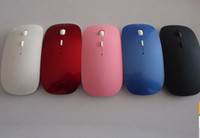 Wholesale 2 GHz Mini USB wireless mouse mice M working distance G receiver super slim mouse For Laptop Notebook computer mouse