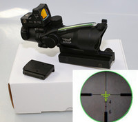 trijicon - Trijicon ACOG x32 Riflescope Green Optical Fiber Works really Red Dot Rifle scope EM5161A