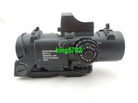 Wholesale 4x Fixed Dual Role Red Green Illuminated Riflescopes Hunting Products w Mini Red Dot Sight with mm Weaver rails mounting