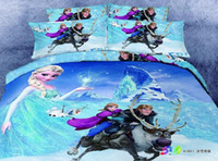 Wholesale 3D Frozen kids girls cartoon character bedding comforter set bedroom bed sets children queen size bedspread sheet duvet cover home texile