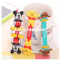 Wholesale Cartoon winder button Hub data cable management clip headphone cable winder winding