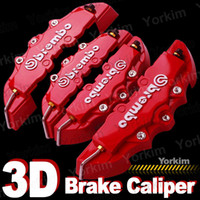 Wholesale 4pcs D Red Brembo Style Universal Disc Brake Caliper Cover Front Rear
