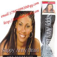 Wholesale AFRO hair extensions nappy anny braid braiding hair inch yaki briad brown color available