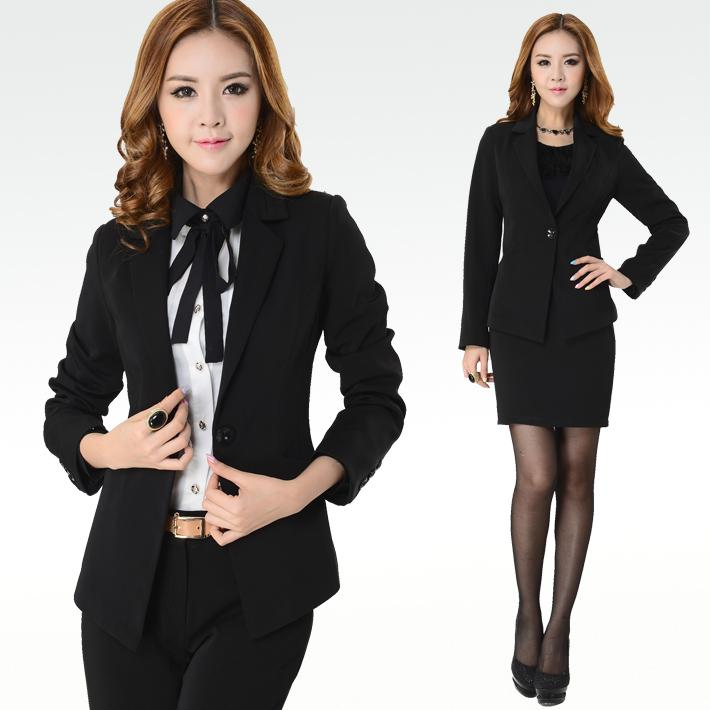 2016 New Fashion Female Business Suits Sets Coat   Skirts   Pants ...