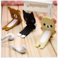 Wholesale Korea Stationery cute serrated easily bear headphone winder cable management