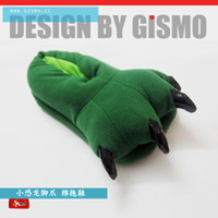 Wholesale Genuine GISMO cartoon dinosaur claw slippers home slippers winter warm winter couple models