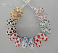 Wholesale Colourful shining beads set with diamond charms beads can mix colour