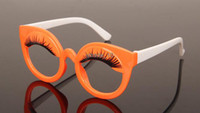 Wholesale 7 colors new fashion sunglasses glasses frame sunglasses child cute girl with false eyelashes candy color pet78