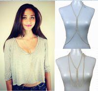 Wholesale Tassel a whole chain body jewelry Beach bikini necklace waist chain Fishbone body chain fashion jewelry XR