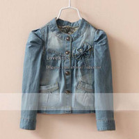 Jackets Girl Spring / Autumn Jeans Jacket Children Outwear Girl Clothes Kids Jacket Fashion Denim Coat Children Jacket Girls Coats Girls Jackets Child Clothing Kids Coat
