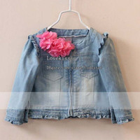 Wholesale Girls Jackets Child Clothing Kids Coat Jeans Jacket Children Outwear Girl Clothes Kids Jacket Cute Denim Coat Children Jacket Girls Coats