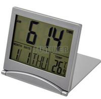 al por mayor reloj del escritorio de múltiples-Envío de la mini múltiples funciones de escritorio electrónica Escritorio simple Digital LCD Termómetro del despertador del calendario