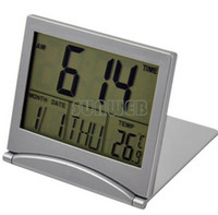 Wholesale Mini Desktop Multi function Electronic Simple Desk Digital LCD Thermometer Calendar Alarm Clock