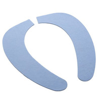 Plastic Sofa Eco Friendly Paste Type Toilet Seat Cleaning Pad Cover (Plain Section),Random Color