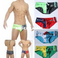 Wholesale Fashion Men Sexy Briefs Swimwear Shorts Slim Summer Beachwear Swimwear Swimming Trunks Bathing Shorts GYD191