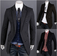 2014 Fashion new men trench coats Slim fit casual trench coa...