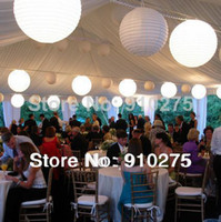 Wedding Event & Party Supplies Yes 24pcs lot 8 inch White Chinese Paper Lanterns with LED Lights Beach Wedding Party Home Decoration Holiday Supplies