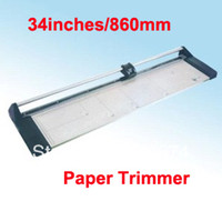 Yes Cheonet Manual Fast Free shipping NEW Discount Portable 34 inches 860MM Manual Rotary Professional Paper PVC Cutter Trimmer