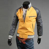 korean leather jacket - 2014 fall autumn fashion new Korean men jackets slim fit casual cardigan jacket coat outwear leather long sleeve men s clothing xd003