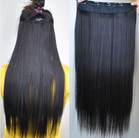Wholesale Fashionable Inch g Long Straight Clip In Hair Extension Black Dark Brown Linen Blonde Colors Choose