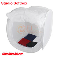 Wholesale 40 x cm Photo Studio Softbox Shooting Tent Cube Box Photo Light Tent Portable Bag Backdrops