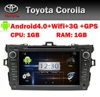 Wholesale 8 quot HD Touch Screen Car PC Android Car DVD for Toyota Corolla GPS Bluetooth Radio TV USB SD PIP Steering wheel control